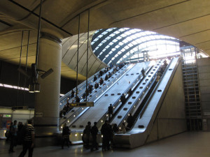 Fig. 1.04: Norman Foster's Canary Wharf Station on the Jubilee Line extension