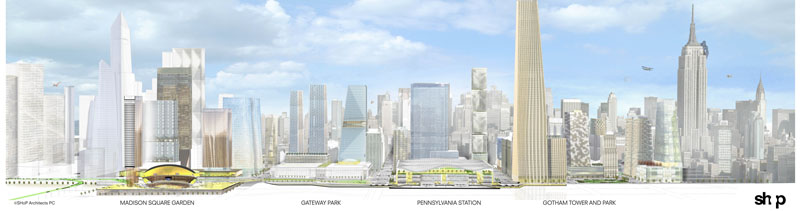 Fig. 1.05: SHoP's vision for Penn Station and its environs (SHoP Architects, Gotham Gateway Presentation to the Municipal Art Society, May 2013)