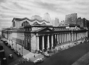 Fig. 3.13: Exterior of Penn Station, facing northwest from the corner of Seventh Avenue and 31st Street