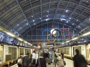 Fig. 4.19: Eurostar platform at St. Pancras International Terminal, London