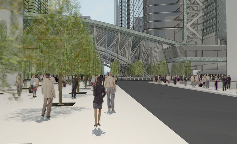 Fig. 4.30: Facing east from SHoP's proposed Gateway Park (click to enlarge)