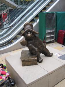 Fig. 4.33: Paddington Bear sculpture at Paddington Station, London