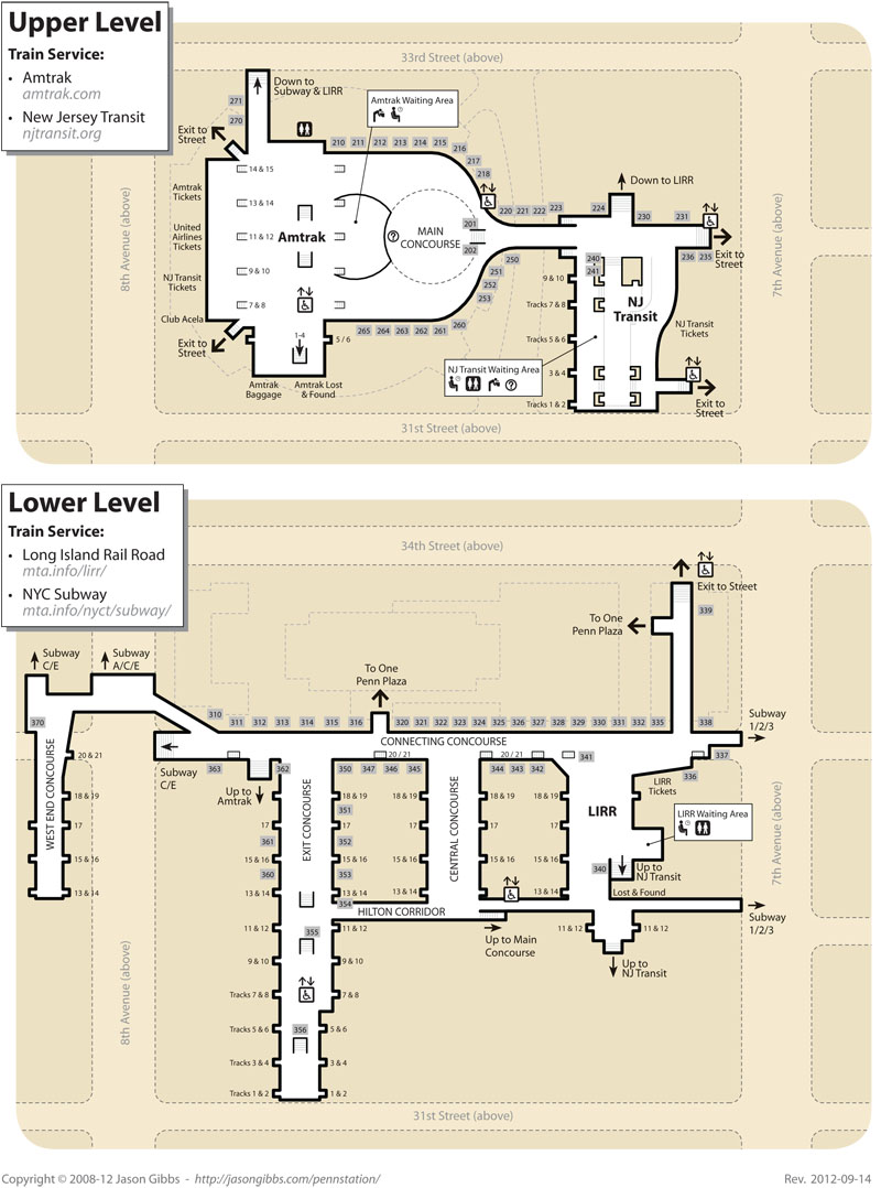 Fig. 7.11: Upper level and lower level plans